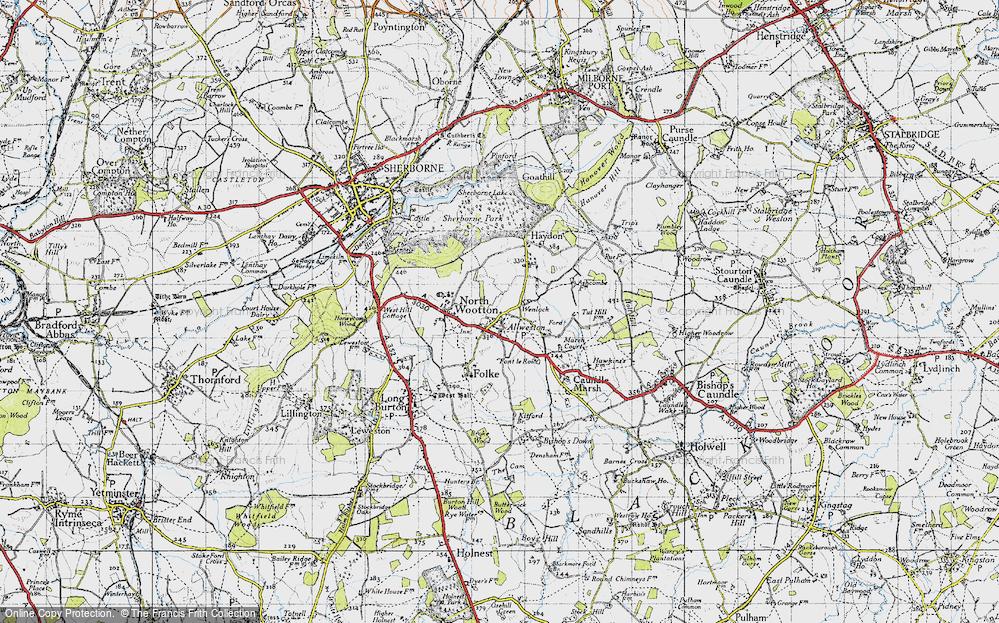 Old Map of Alweston, 1945 in 1945