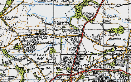 Old map of Alwoodley Old Hall in 1947