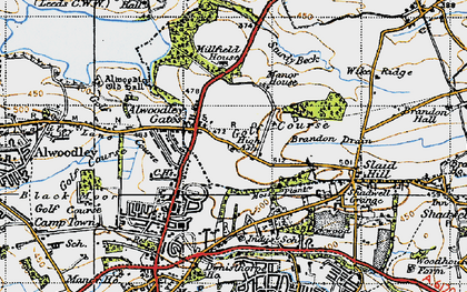 Old map of Wigton Moor in 1947