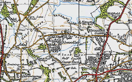 Old map of Alwoodley Park in 1947