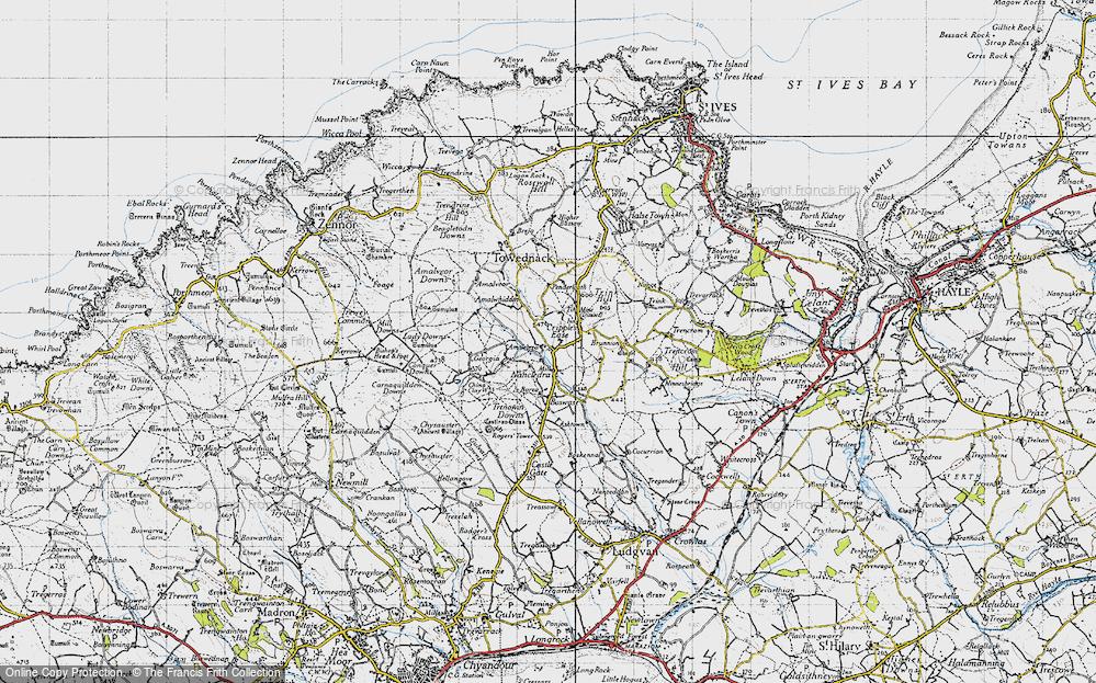 Old Map of Amalebra, 1946 in 1946