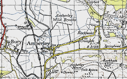 Old map of Amberley in 1940