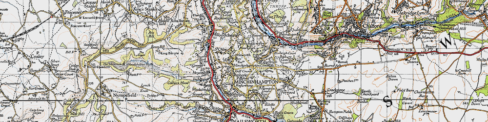 Old map of Amberley in 1946