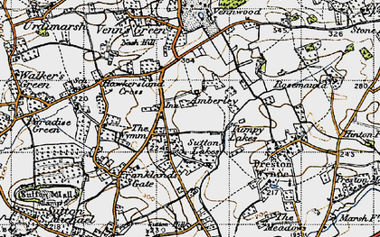 Old map of Amberley in 1947