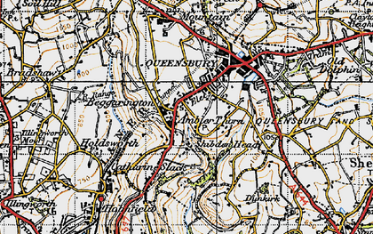 Old map of Ambler Thorn in 1947