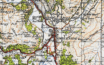 Map Of Ambleside Ambleside photos, maps, books, memories   Francis Frith Map Of Ambleside