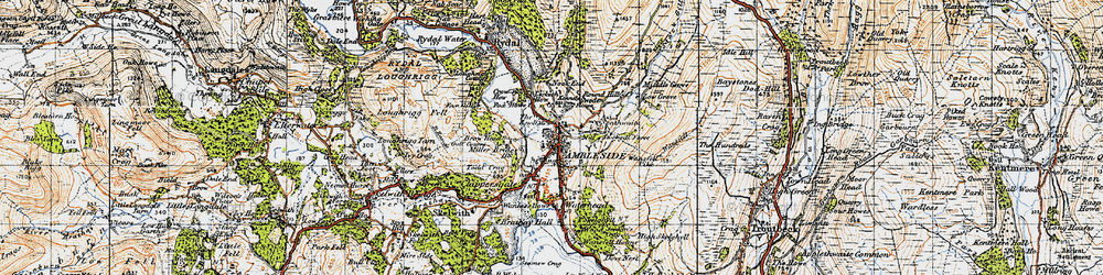Old map of Ambleside in 1947