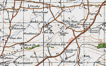 Old map of Ambleston in 1946