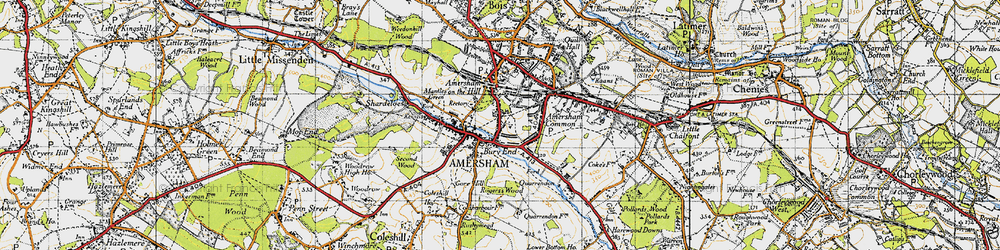 Old map of Amersham Common in 1946
