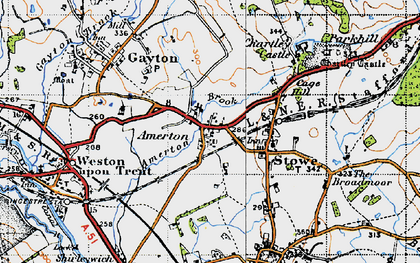 Old map of Amerton in 1946