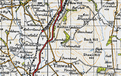Old map of Back Hill in 1947