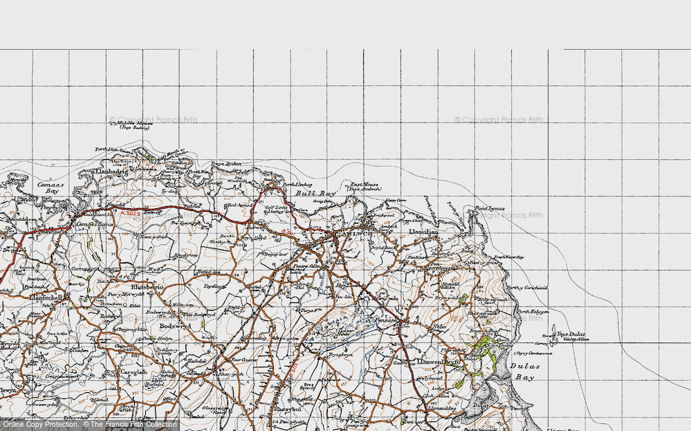 Old Map of Amlwch, 1947 in 1947