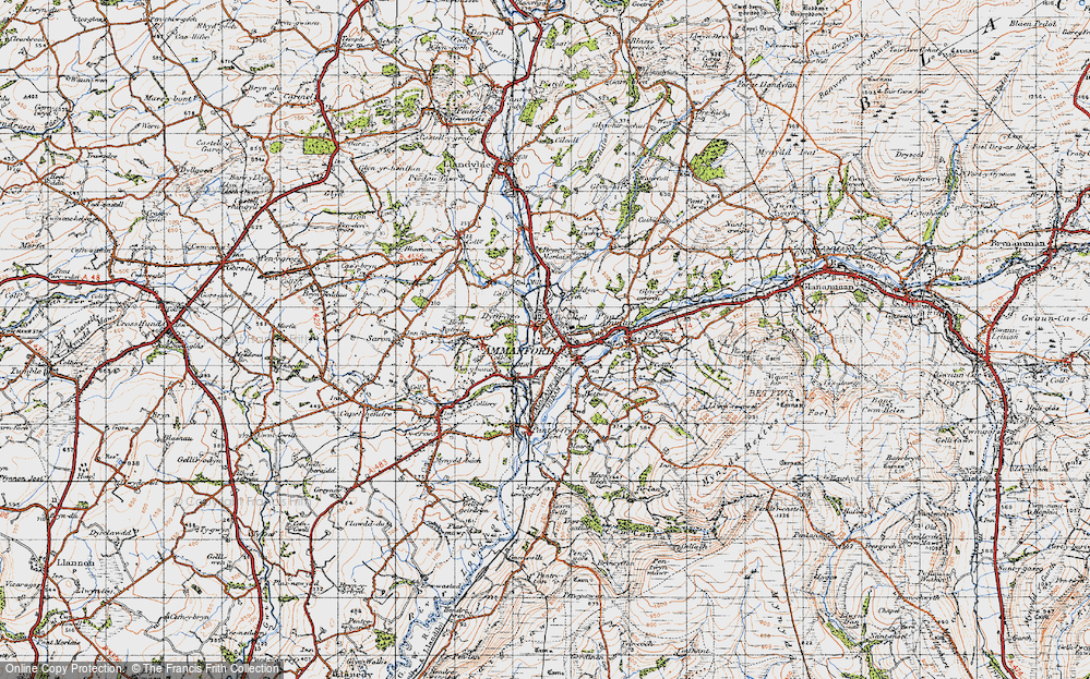 Old Map of Ammanford, 1947 in 1947