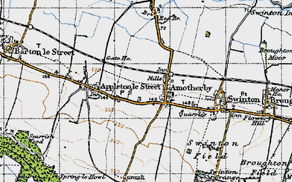 Old map of Amotherby in 1947