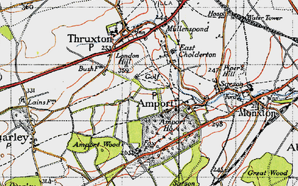 Old map of Amport in 1940