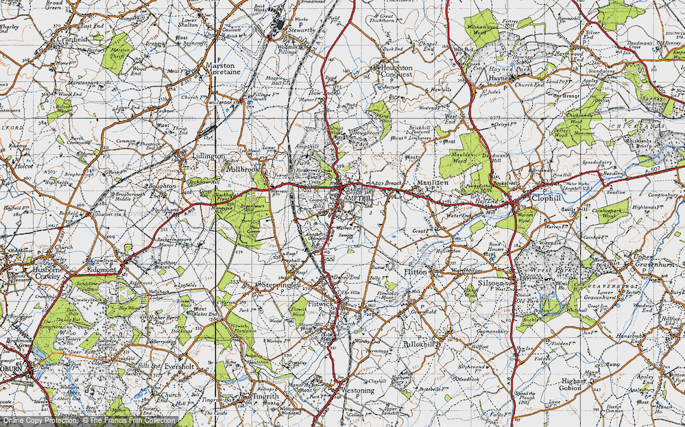 Old Map of Ampthill, 1946 in 1946