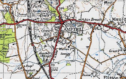 Old map of Ampthill in 1946