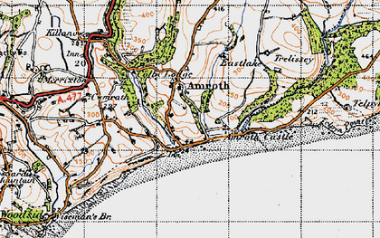 Old map of Amroth in 1946