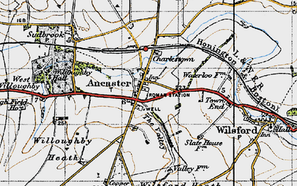 Old map of Ancaster in 1946