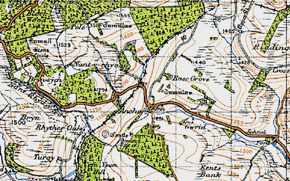 Old map of Y Drain in 1947