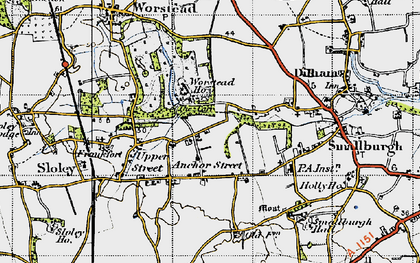 Old map of Anchor Street in 1945