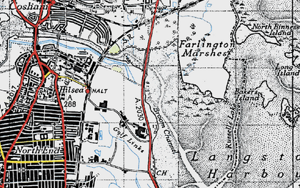 Old map of Anchorage Park in 1945