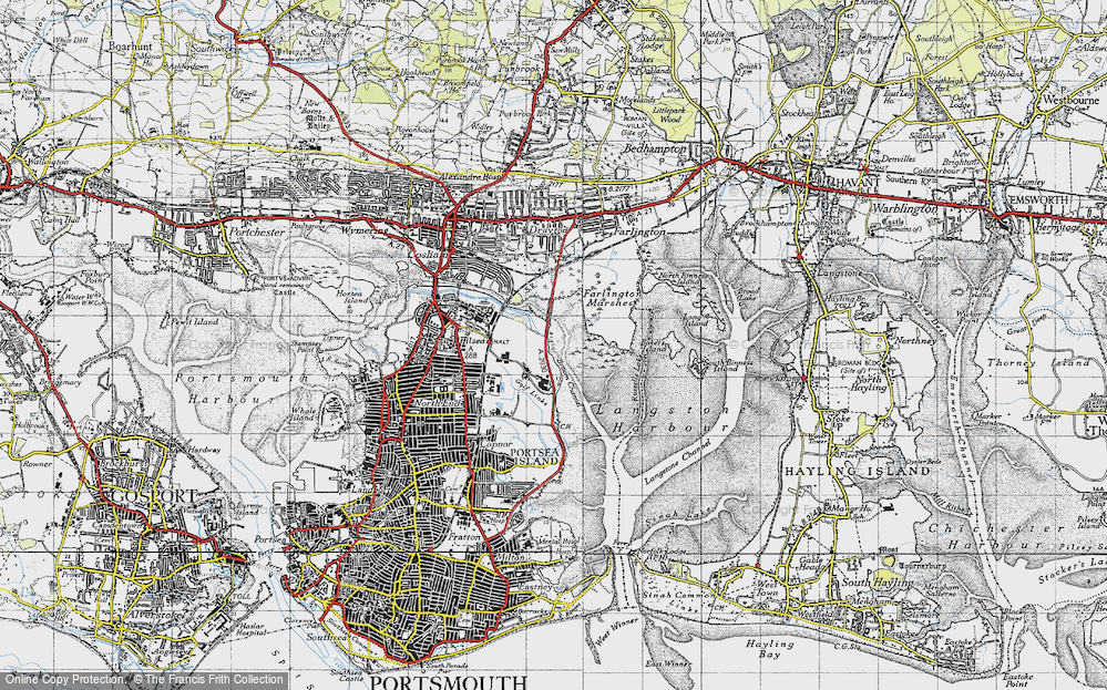 Map of Anchorage Park 1945 Francis Frith