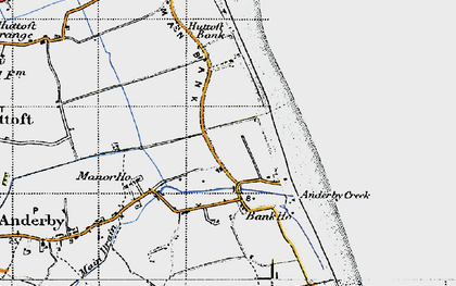 Old map of Anderby Creek in 1946