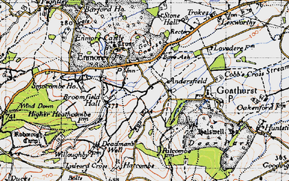 Old map of Andersfield in 1946