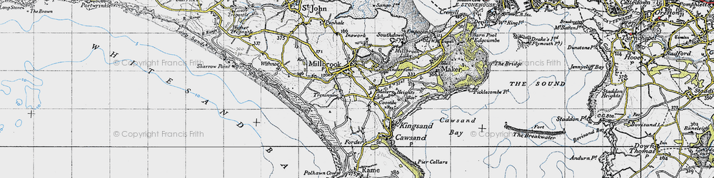 Old map of Wiggle in 1946