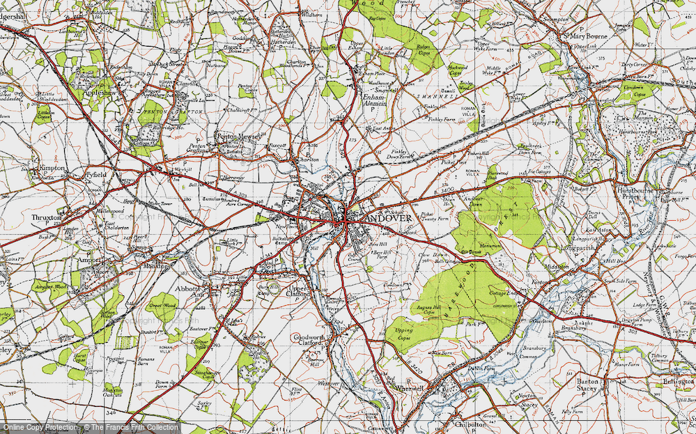 Map Of Andover Map of Andover, 1945   Francis Frith