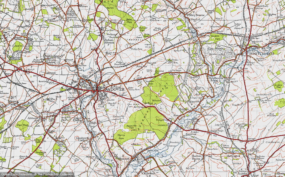 Old Map of Historic Map covering Balls Cotts in 1945