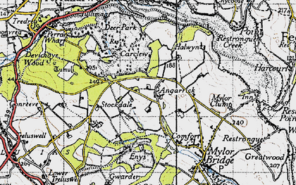 Old map of Angarrick in 1946