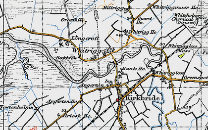 Old map of Whitrigg Ho in 1947