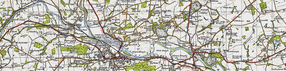 Old map of Wide Haugh in 1947