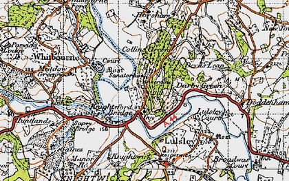 Old map of Ankerdine Hill in 1947
