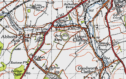 Old map of Anna Valley in 1945