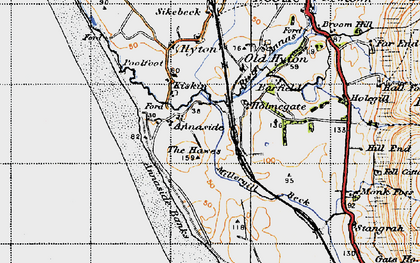 Old map of Barfield Tarn in 1947