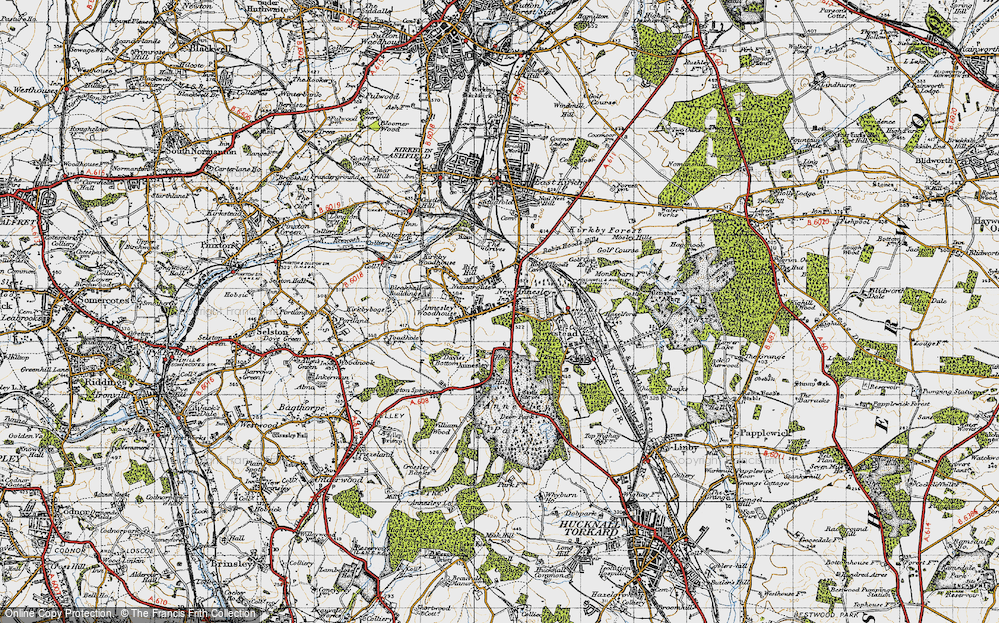 Old Map of Annesley, 1946 in 1946