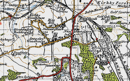 Old map of Annesley in 1946