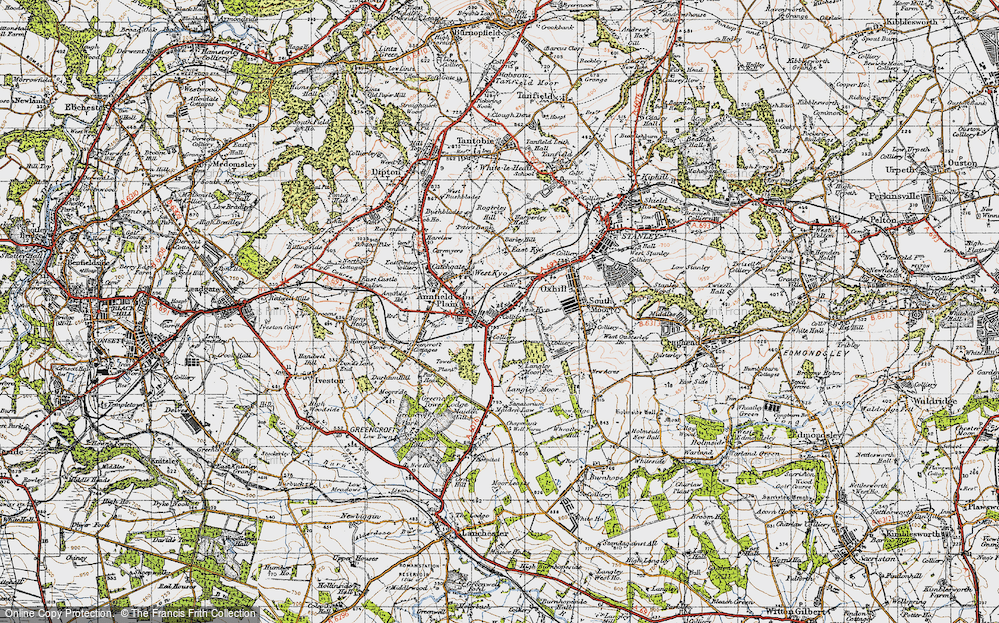 Old Map of Annfield Plain, 1947 in 1947