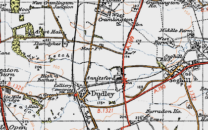 Old map of Annitsford in 1947