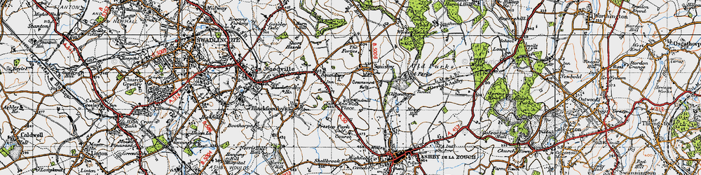 Old map of Annwell Place in 1946