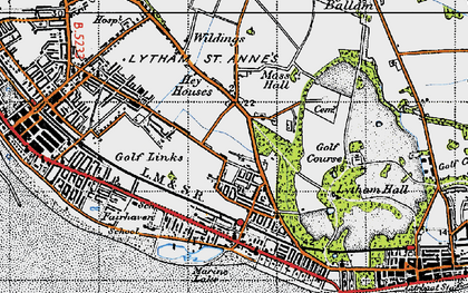 Old map of Ansdell in 1947