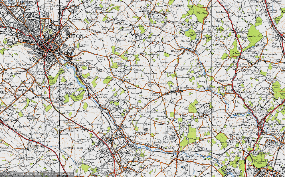 Old Map of Ansells End, 1946 in 1946