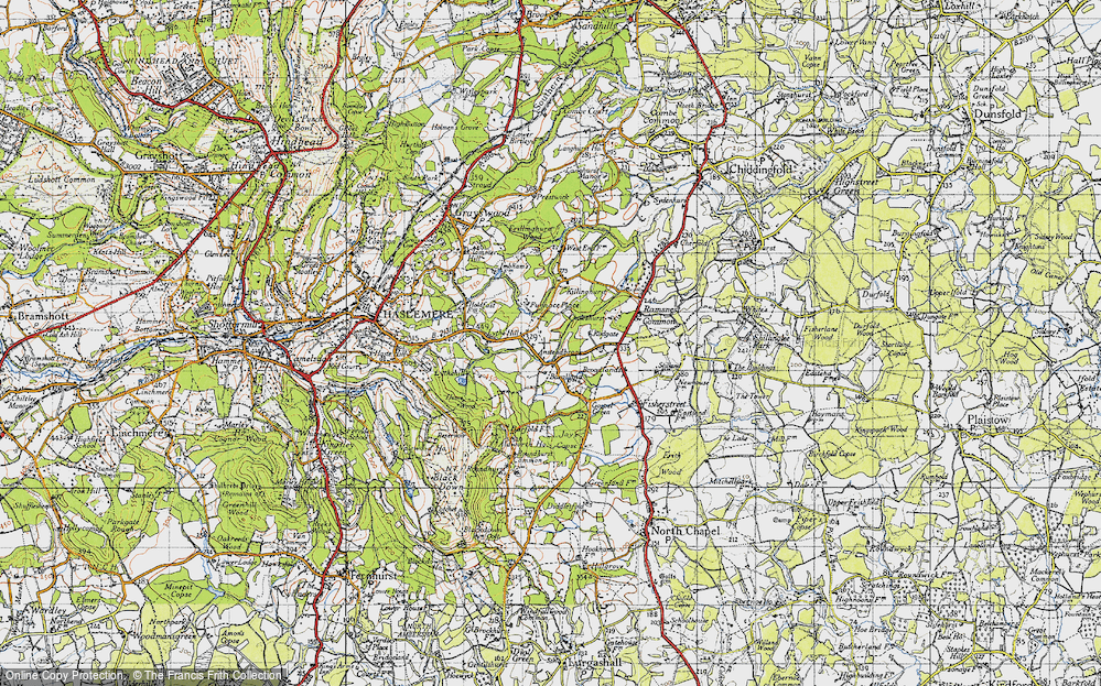 Old Map of Historic Map covering Aldworth Ho in 1940