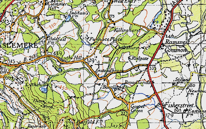 Old map of Aldworth Ho in 1940
