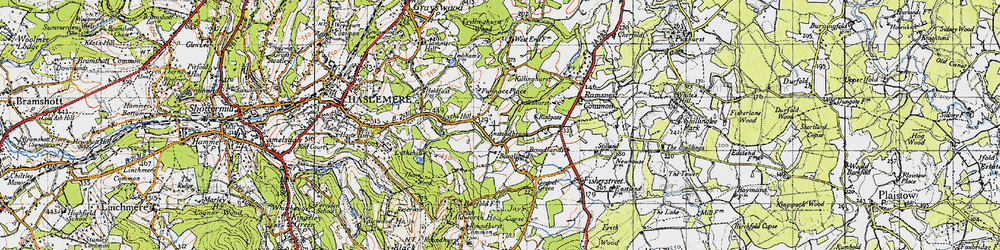 Old map of Ansteadbrook in 1940