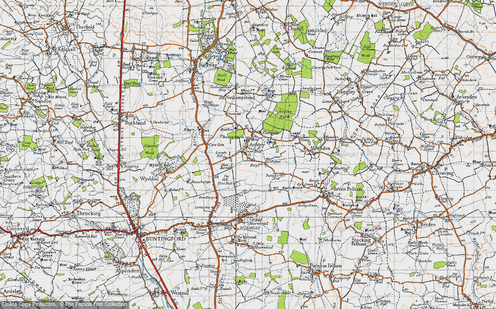 Old Map of Anstey, 1946 in 1946