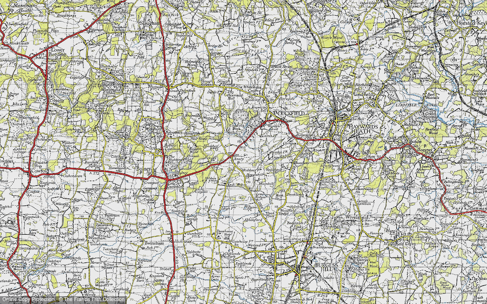 Old Map of Historic Map covering Legh Manor in 1940